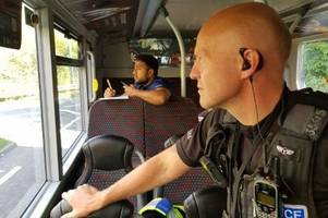 Watch: Police on top deck of buses are catching drivers on their phones