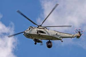where to see navy sea king helicopters' farewell fly past over cornwall