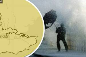 kent weather: the met office has confirmed a four day yellow weather warning for wind