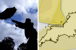 Met Office weather warning: 'Chance of injuries and danger to life' with winds set to batter South West