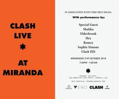 shakka, elderbrook, hex, romzy + more for clash live halloween special at ace hotel