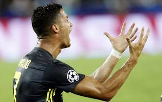 Champions League: Cristiano Ronaldo left in tears after seeing red for Juventus