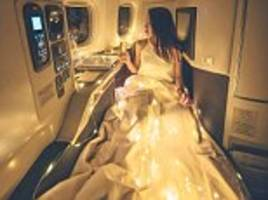 harimao lee's business class glamorous mid-air snap sparks outrage online