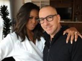 michelle obama's make-up artist car ray shares a photo with her