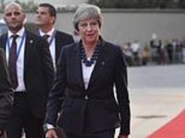 theresa may warns she is willing to force no deal brexit unless eu leaders compromise in eight weeks