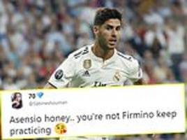 Fans mock Real Madrid star Marco Asensio after failed 'no-look' finish against Roma