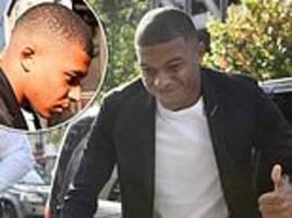 kylian mbappe arrives for hearing at french federation as he looks to get red card overturned