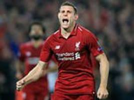 Liverpool midfielder James Milner reveals his dad banned him from wearing the colour red as a kid