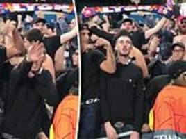 Lyon vow to give lifetime ban to supporter who appeared to perform Nazi salute during Man City win
