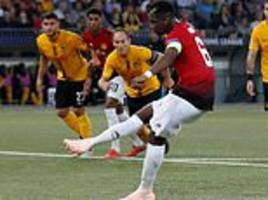 pogba keeps faith with crazy penalty technique against young boys