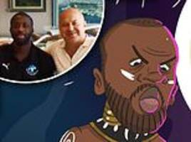 toure's agent posts controversial voodoo doll cartoon of manchester city manager guardiola