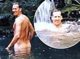 Brendan Cole shows his posterior as he goes skinny dipping in Italy