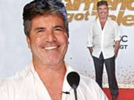simon cowell, 58, shows off his very smooth visage at 13th america's got talent final