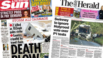 Scotland's papers: 'Killer storm' and vote over 'P1 tests'