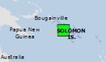 Green earthquake alert (Magnitude 5.5M, Depth:10km) in Solomon Is. 20/09/2018 05:47 UTC, About 25000 people within 100km.
