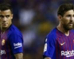 coutinho lauds 'unpredictable' messi while admitting to champions league nerves