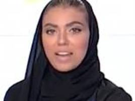 female journalist becomes the first ever woman to anchor a national news bulletin in saudi arabia