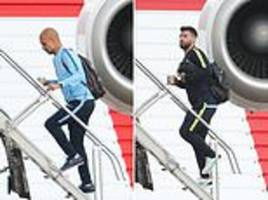 manchester city board private jet to cardiff to forget champions league defeat
