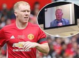 sir alex ferguson pays tribute to paul scholes in video message at charity dinner