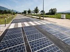 roadways lined with solar panels may not be as promising as hoped, first studies show