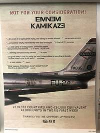 Eminem took out a full-page ad to diss music critics who panned his new album