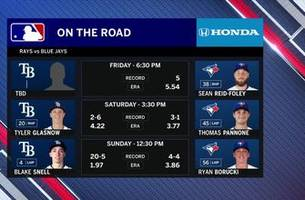Righty Tyler Glasnow looks to build on previous strong starts in Game 2 against Blue Jays