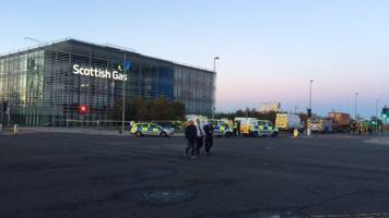 paramedics called to 'chemical incident' at scottish gas building