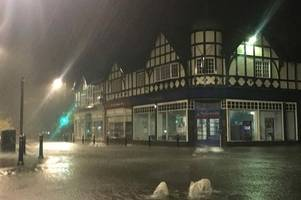 heavy floods in matlock as storm bronagh hits derbyshire