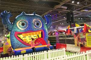 the monster - the world's biggest inflatable obstacle course - is in birmingham and we've tried it out