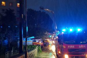 This is why dozens of firefighters surrounded high-rise St Austell flats as Storm Bronagh hit