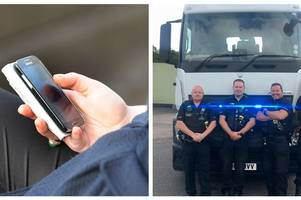Staffordshire Police officers have been hiding out to catch drivers on their mobile phones