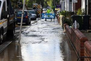burst water main leaves busy cardiff road flooded