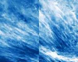 NASA balloon mission captures electric blue clouds