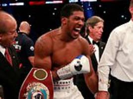 anthony joshua inflicted the savage rhythms of his power upon povetkin