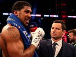 anthony joshua admits he wants to face deontay wilder next at wembley