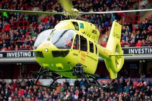 burton albion game postponed at barnsley as air ambulance called for medical emergency
