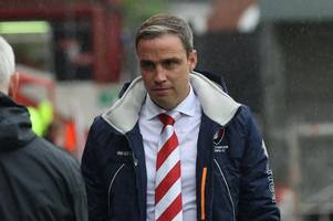 every word of michael duff's interview after cheltenham town's 3-1 defeat at exeter city