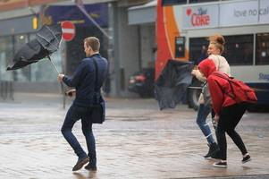 kent weather: hour by hour forecast as met office warns of torrential downpours and 60mph wind