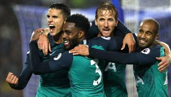 brighton 1-2 tottenham: report, ratings & reaction as spurs stutter to victory over seagulls