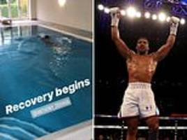 Anthony Joshua polls fans over next opponent as he steps up rehabilitation following Povetkin win