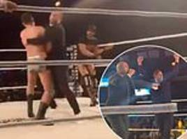 former norwich striker grant holt makes surprise wrestling debut before going on to win royal rumble