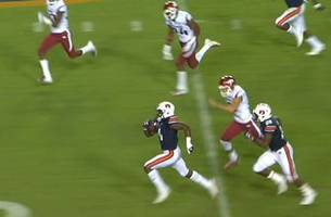 noah igbinoghene's 96-yard kickoff return for a touchdown helps no. 9 auburn take down arkansas