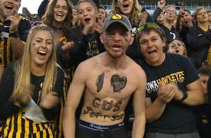 This might just be Gus Johnson's biggest fan -- and he's definitely ready for Wisconsin vs. Iowa