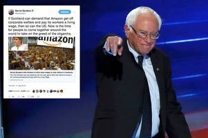 bernie sanders backs scottish government's amazon funding freeze in workers' living wage battle