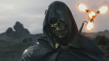 new death stranding trailer introduces troy baker and a humongous monster