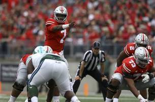 dwayne haskins throws 5 tds for ohio state against tulane   state of the buckeyes