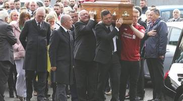 matt campbell funeral: 'he never let me down'- dad of storm ali victim pays tribute to son during emotional farewell
