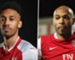 extra time: aubameyang and son meet arsenal legend thierry henry
