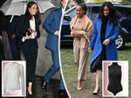 Why Meghan Markle opts to wear BODYSUITS rather than regular tops to achieve her sleek silhouettes