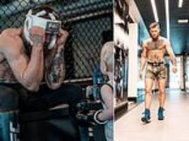 conor mcgregor teaches his son the ropes in the gym as ufc star continues preparation for khabib